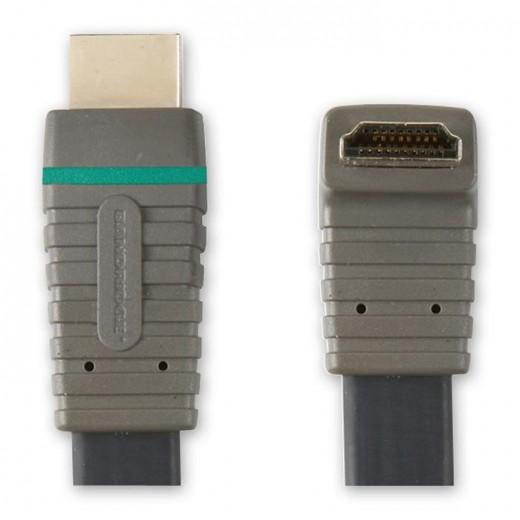 BANDRIDGE BVL 1362 (2,00 m) HDMI-A-Winkelstecker mit 270 Grad Winkel auf HDMI-A-Stecker in 2,00m Länge