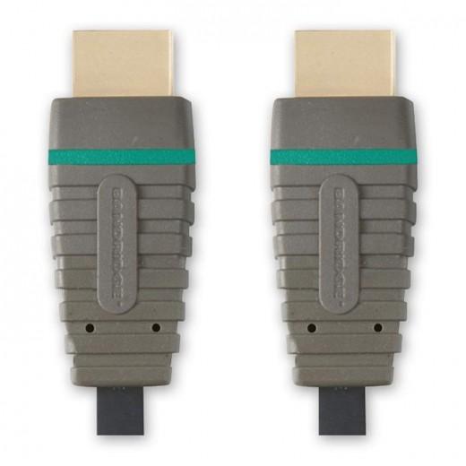 Bandridge BVL 1202 (2,00 m) HDMI 1.4 zertifiziertes Kabel HDMI-A-Stecker auf HDMI-A-Stecker in 2,00m Länge.