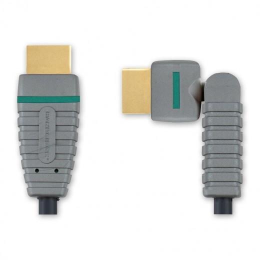 Bandridge BVL 1801 (1,00 m) Drehbarer HDMI-A-Stecker auf HDMI-A-Stecker in 1,00m Länge