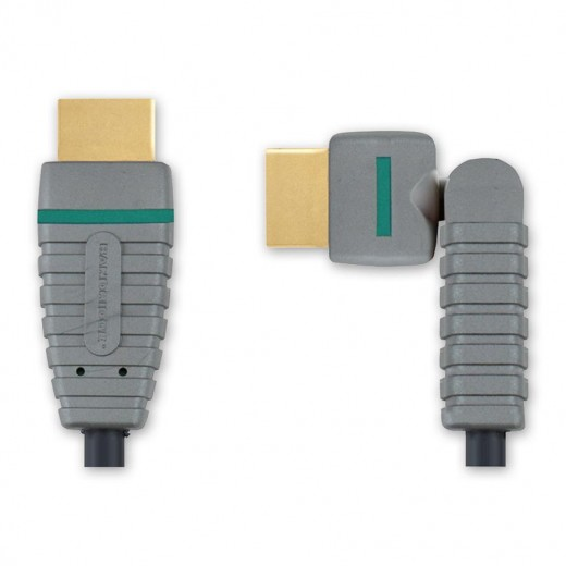 Bandridge BVL 1802 (2,00 m) Drehbarer HDMI-A-Stecker auf HDMI-A-Stecker in 2,00m Länge