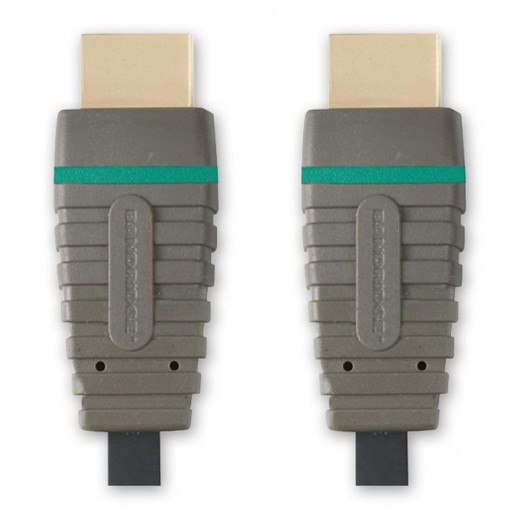 Bandridge BVL 1210 (10,00 m) HDMI High Speed with Ethernet zertifiziertes Kabel HDMI-A-Stecker auf HDMI-A-Stecker in 10,0m Länge.