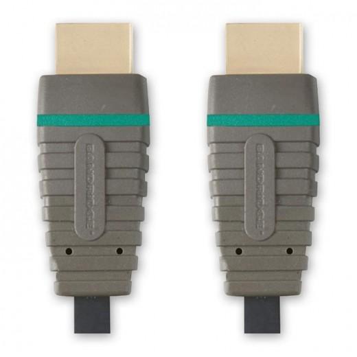 Bandridge BVL 1200 (0,50 m) HDMI High Speed with Ethernet zertifiziertes Kabel HDMI-A-Stecker auf HDMI-A-Stecker in 0,50m Länge.