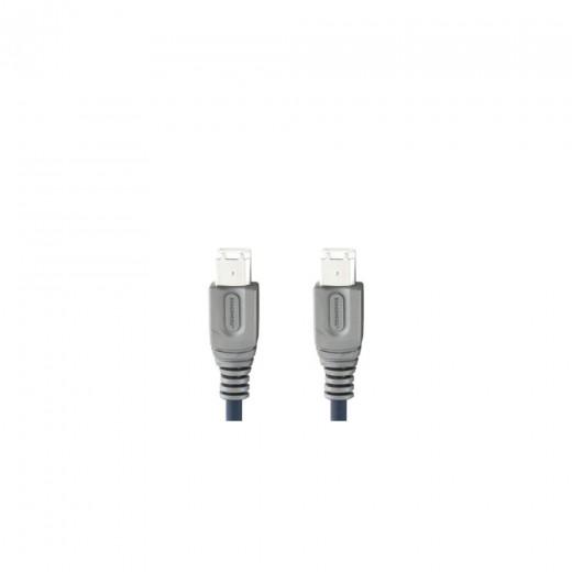 Bandridge CL 60002X 6pin Firewire®-Stecker auf 6pin Firewire®-Stecker 1,8 m blau vergoldete Kontakte