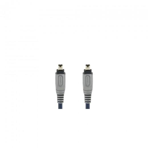 Bandridge CL61005X 4pin Firewire®-Stecker auf 4pin Firewire®-Stecker 4,5 m blau vergoldete Kontakte