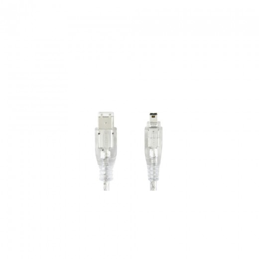 Bandridge CL62002T 4pin Firewire®-Stecker auf 6pin Firewire®-Stecker 1,8 m transparent vergoldete Kontakte