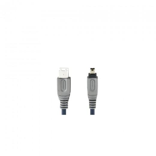 Bandridge CL62002X 4pin Firewire®-Stecker auf 6pin Firewire®-Stecker 1,8 m blau vergoldete Kontakte