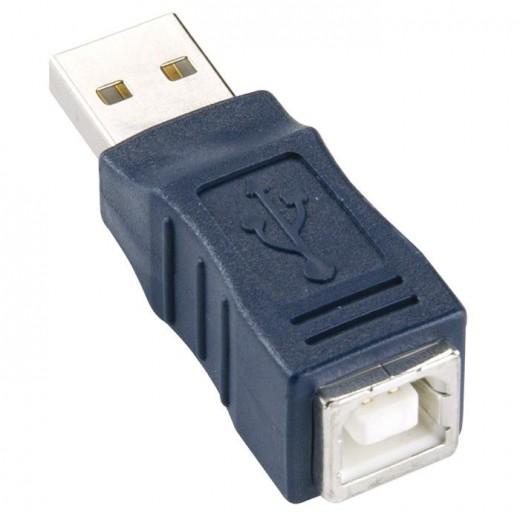 Bandridge CA46000X Adapter USB-A Stecker auf USB-B Kupplung blau
