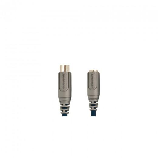 Bandridge CL82002X 6pin miniDIN Kupplung auf 5pin DIN Stecker 1,8 m vergoldete Kontakte