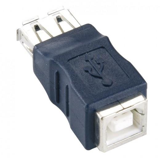 Bandridge CA46400X Adapter USB-A Kupplung auf USB-B Kupplung blau