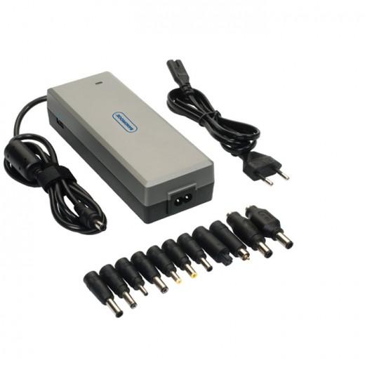 Bandridge BPC 2127 EC (1,80 m) Notebook-Netzteil mit 6000 mA/15...24 Volt und zusätzlichem USB-Ausgang.