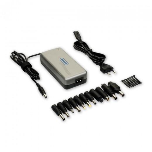 Bandridge BPC 2097 EC (1,80 m) Notebook-Netzteil mit 4500 mA/15...24 Volt und zusätzlichem USB-Ausgang.