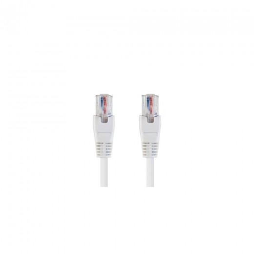 Bandridge TAI 1059 ISDN-Kabel weiß 5,0 m RJ45-Stecker auf RJ45-Stecker vergoldete Kontakte