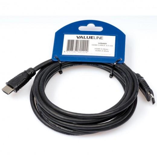 Valueline LVB 4001 (3,00 m) HDMI-A-Stecker auf HDMI-A-Stecker