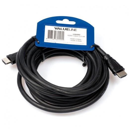 Valueline LVB 4002 (5,00 m) HDMI-A-Stecker auf HDMI-A-Stecker