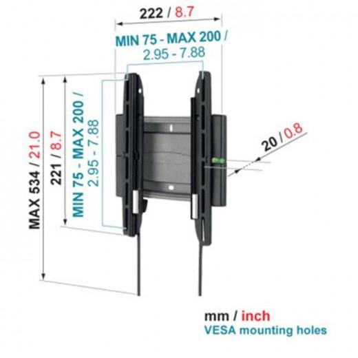 Vogels EFW 8105 Superflat Wandhalterung | 19-27 Zoll, 20mm Wandabstand
