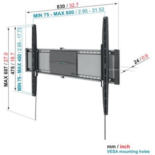 Vogels EFW 8305 Superflat Wandhalterung | 40-80 Zoll, 20mm Wandabstand
