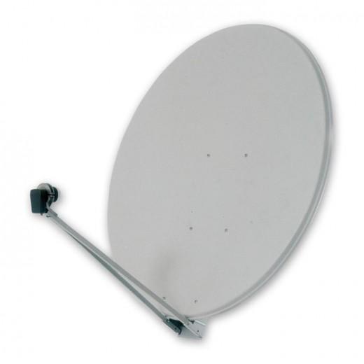 OFA 120 P - Weiße Profi-Satelliten-Parabolantenne mit einem Durchmesser von 120 Zentimetern