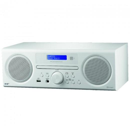 Scansonic DA 310 weiß DAB+/FM-CD + Bluetooth Radio