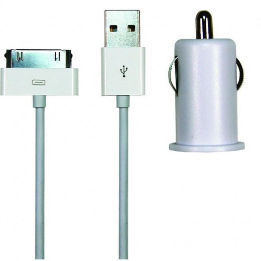 SinoxPlus SXI 782  I-Media USB-Auto-Ladeadapter,1,0Ah,weiß