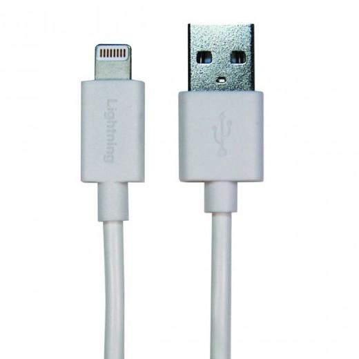 SinoxPlus SXI 2503MFI I-Media Lightning St. - USB-A St.,3,00m,weiß,Apple