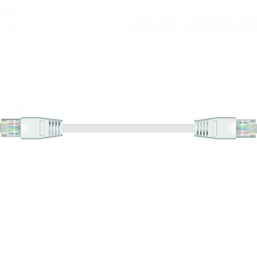 SinoxPlus SXI 7842 I-Media Rj45 St. - Rj45 St.,CAT.6,2,0m,weiß,superflach