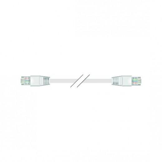 SinoxPlus SXI 7845 I-Media Rj45 St. - Rj45 St.,CAT.6,5,0m,weiß,superflach