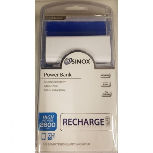 SinoxPlus SXI 9026 I-Media USB-PowerBank 2600mA