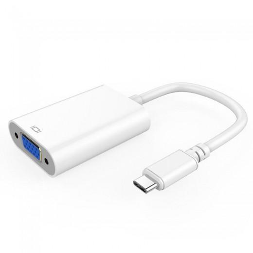 SinoxPlus SXI 66100 P I-Media USB-C St. - VGA-Ku.,0,15m,weiß