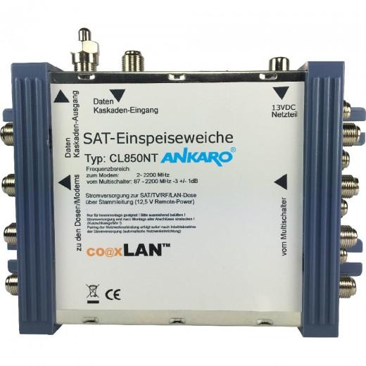 Ankaro coaxLan CL 850NT Multischalter-Einspeiseweiche,o.Port