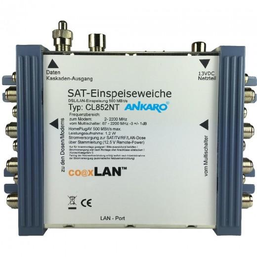 Ankaro coaxLan CL 852NT Multischalter-Einspeiseweiche,1x LAN-Port