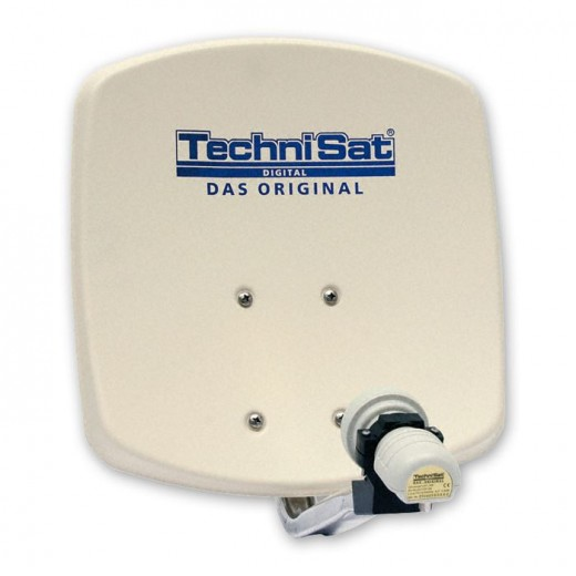 TechniSat DigiDish 45 beige V/H 1045/8194 | Sat-Antenne mit Single LNB
