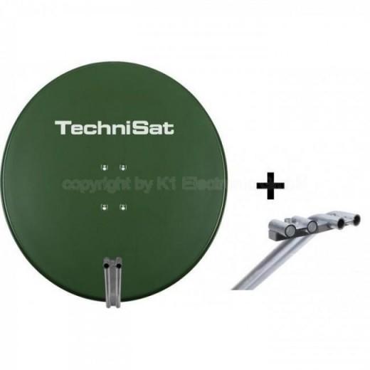 TechniSat EutelAstraSat 1285/1655 | Satman 850 grün + Multifeedhalterung