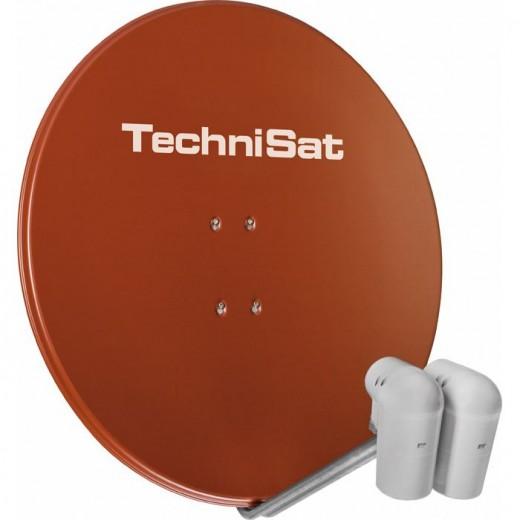 TechniSat Gigatenne 850 85cm rot Astra/Hotbird 9728/8884 ohne Multischalter