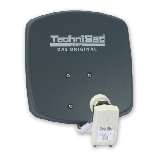 TechniSat DigiDish 33 grau Twin 1333/2882 | Sat-Antenne mit Twin LNB