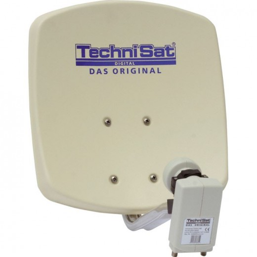 TechniSat DigiDish 33 beige Twin 1033/2882 | Sat-Antenne mit Twin LNB