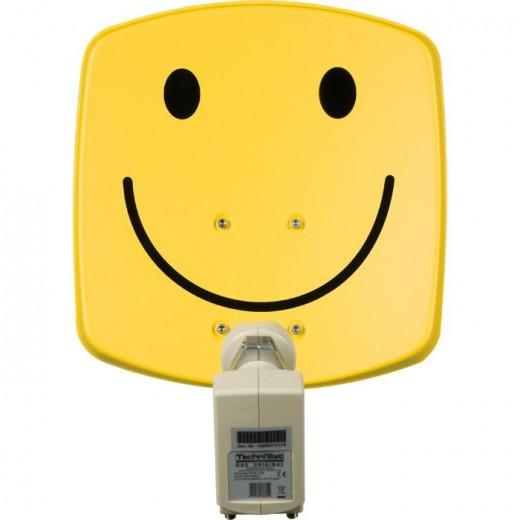 TechniSat DigiDish 33 Smiley gelb Twin 1533/2882   Sat-Antenne mit Twin LNB