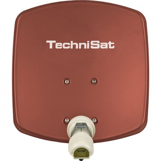 TechniSat DigiDish 33 rot V/H 1433/2194   Sat-Antenne mit Single LNB