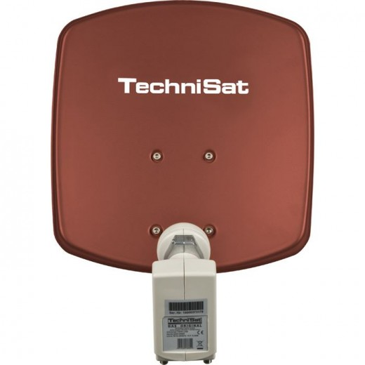 TechniSat DigiDish 33 rot Twin 1433/2882 | Sat-Antenne mit Twin LNB