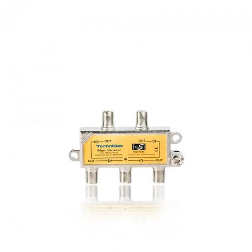 TechniSat 4-Wege Sat-Verteiler 0000/3111 | 4x DC-Durchlass, Diodenentkoppelt