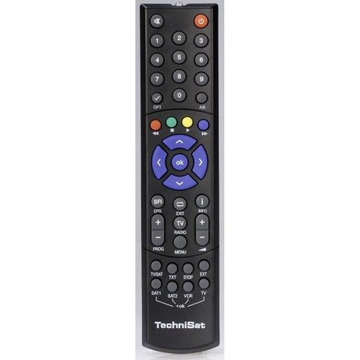 TechniSat 103TS103 B 0000/3724 Original-Fernbedienung für Digipal2, DigipalA, DigipalB, Digit4 und MF4S Receiver