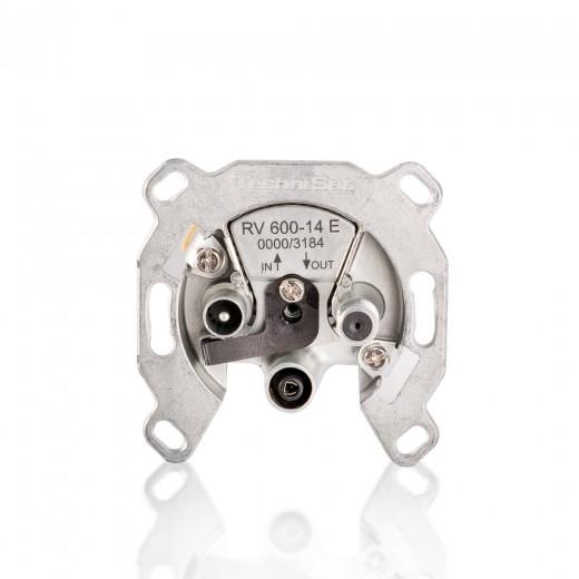 TechniSat RV 600-14 E  0000/3184 Sat-Durchgangsdose mit Überlast-Schutz und 14dB Dämpfung