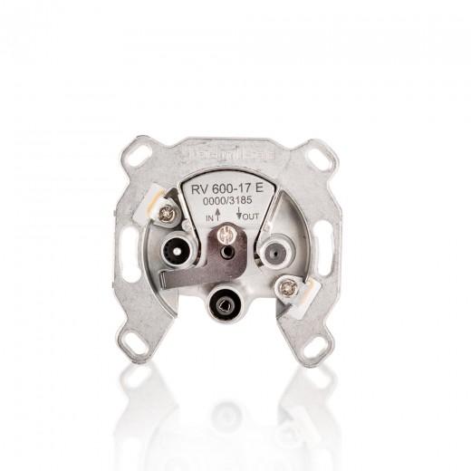 TechniSat RV 600-17 E 0000/3185 Sat-Durchgangsdose mit Überlast-Schutz und 17dB Dämpfung