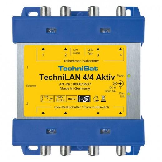 TechniSat TechniLAN 4/4 Aktiv 0000/3637 für bis zu acht TV-Anschlussdosen