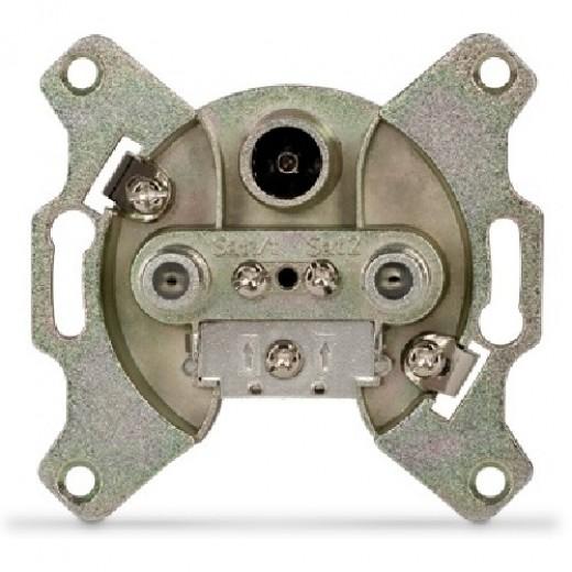 TechniSat SVT 600 3-Loch Sat-Twin-Enddose 0002/3175 | 2x F-Buchse 1x IEC-Buchse