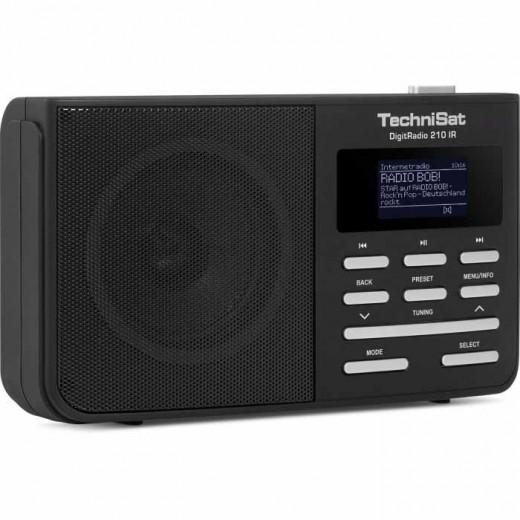 TechniSat DigitRadio 210 IR schwarz/silber 0010/4961 | DAB+, UKW und Internetradio