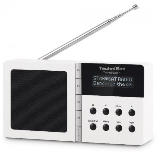 Technisat  0001/4966 TechniRadio 1, DAB+/UKW,weiß