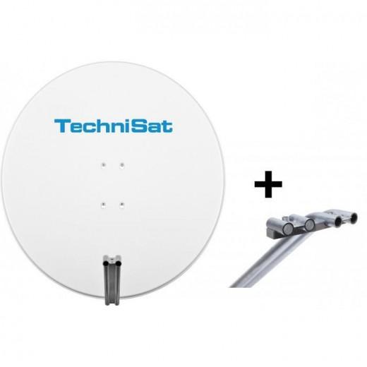 TechniSat EutelAstraSat 1785/1655 | Satman 850 polarweiß + Multifeedhalterung