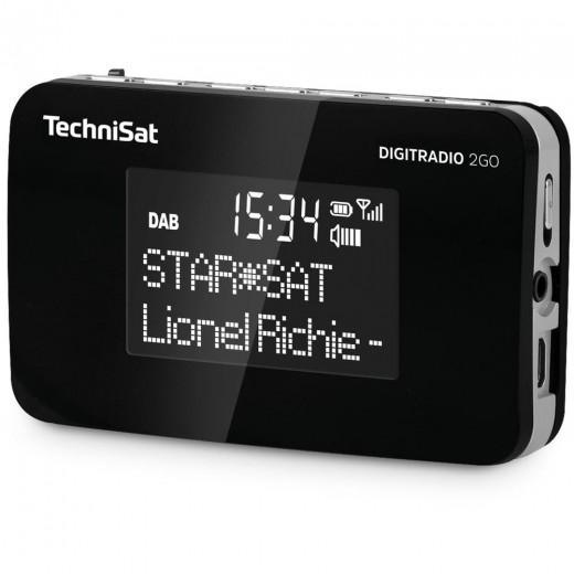 Technisat  0000/4974 DigitRadio 2Go | schwarz, portabel, DAB+/UKW