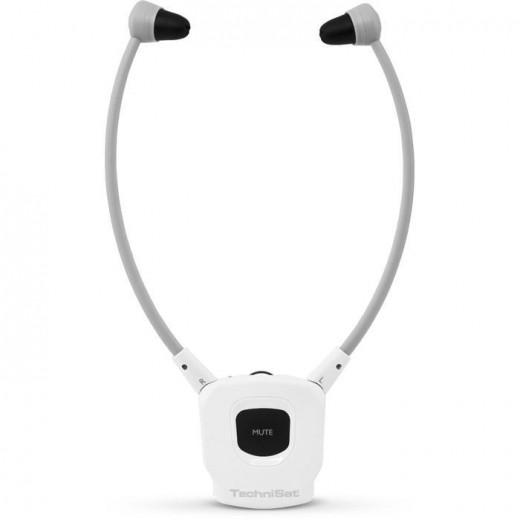 Technisat  1003/9125 Kopfhörer | einzeln, Stereoman ISI, weiß, Akku