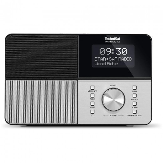 Technisat  0000/4991 DigitRadio 306 | schwarz, DAB+/UKW, LCD-Display